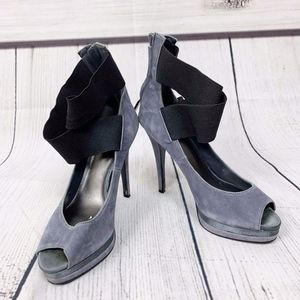 Bakers Blue Heels Leather Upper Strap Ankle 7
